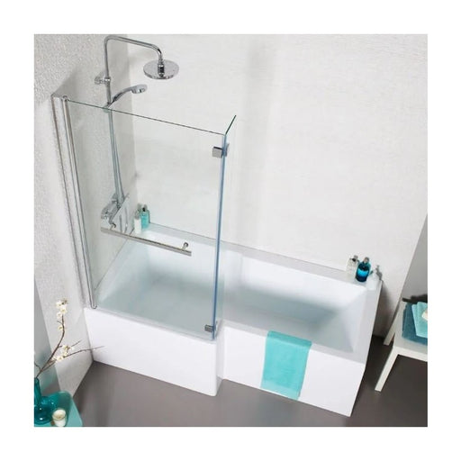 Tetris Square Shaped Shower Bath 1700 X 850mm Left Hand
