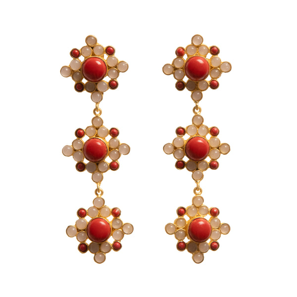 BELLA ROSA EARRINGS - VESCOVI