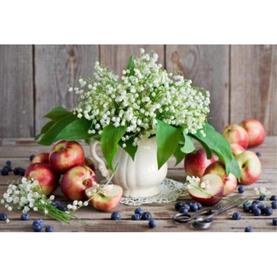 Lily Of The Valley And Apple Diamond Painting Kit - DIY