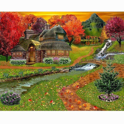 Cabin Water Diamond Painting Kit - DIY