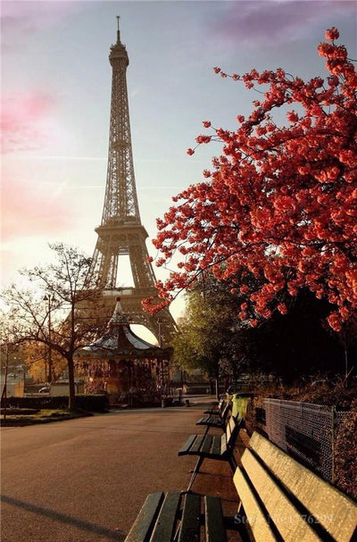 Scenery Eiffel Tower Diamond Painting Kit - DIY