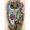 Owl Flower Diamond Painting Kit - DIY