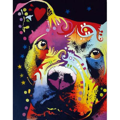 Pitbull Colors Diamond Painting Kit - DIY
