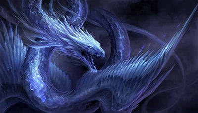 Dragon Blue Diamond Painting Kit - DIY