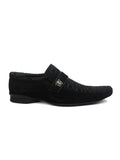 VERSACE - 081 BLACK LEATHER SHOES