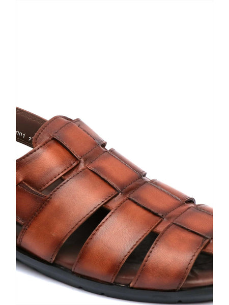 COSTA - 1001 BROWN LEATHER SANDALS
