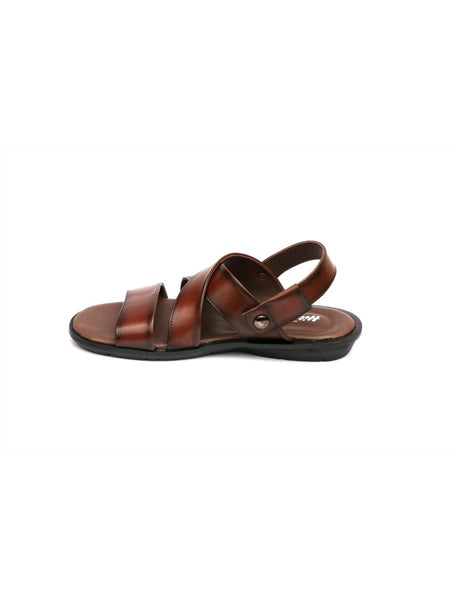 COSTA - 1003 BROWN LEATHER SANDALS