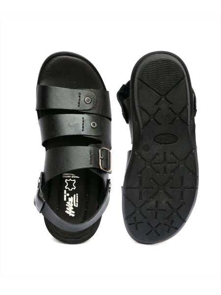 COSTA - 1006 BLACK LEATHER SANDALS