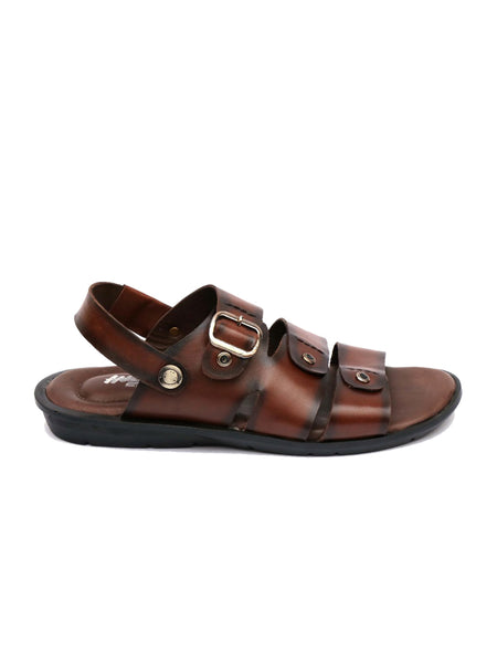 COSTA - 1006 BROWN LEATHER SANDALS