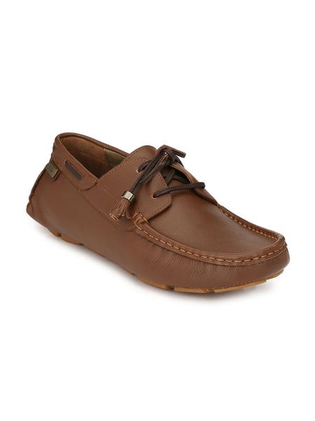 DRIVING - 102 TAN LEATHER LOAFERS