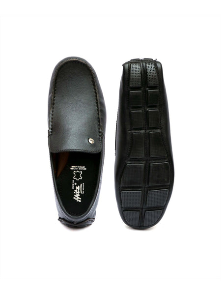 DRIVING - 122 BLACK LEATHER SHOES