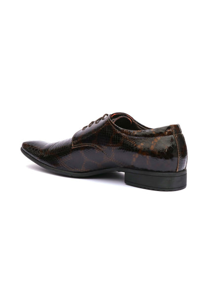 GRANT - 1551 BROWN CROCO LEATHER SHOES