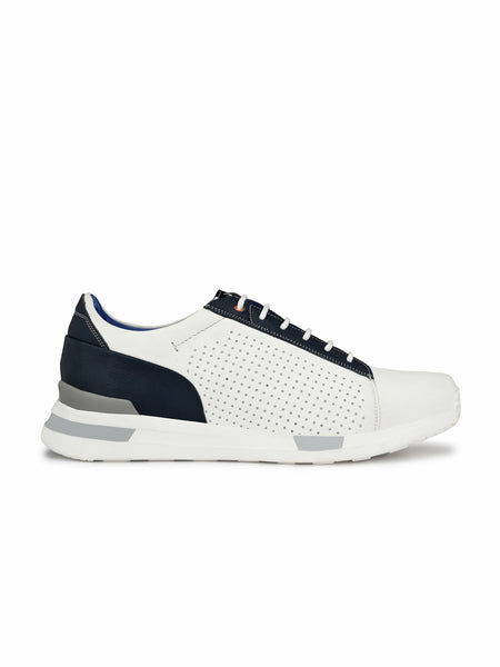 206 WHITE & BLUE RUNNING SHOES