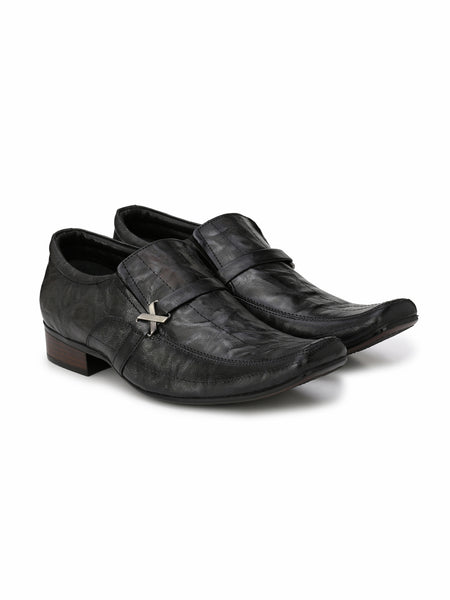 LOUIS - 2115 GREY LEATHER SHOES