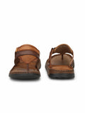 RENAULT - 2303 TAN+BROWN LEATHER SLIPPER