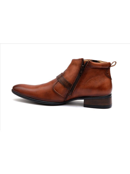 FOOT SHOE - 2412 BROWN LEATHER SHOES