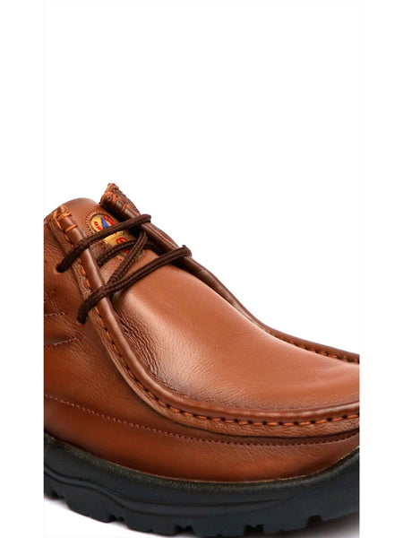 NEW DARBAN - 2651 TAN LEATHER SHOES