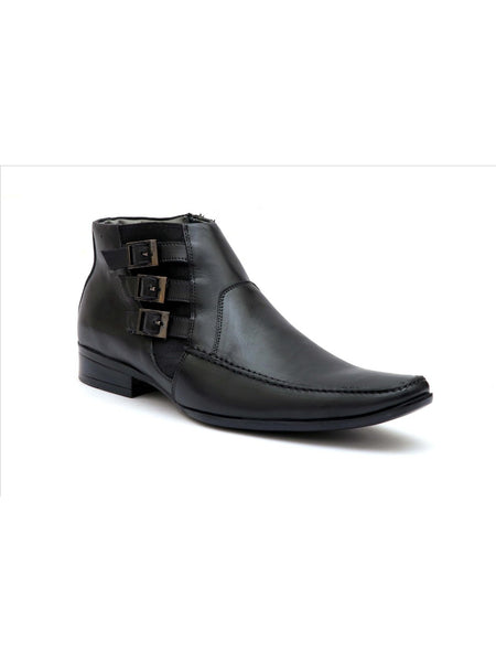 SCORE - 2808 BLACK LEATHER BOOTS