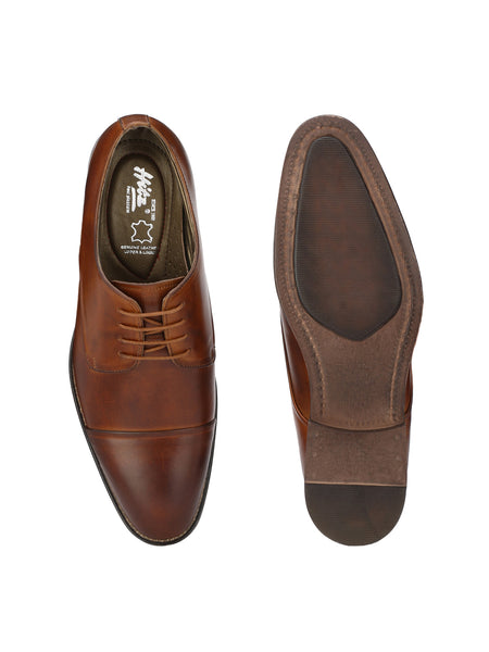 PREMIUM - 3002 TAN LEATHER FORMAL SHOES