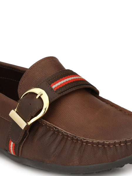 ETNA - 312 BROWN LEATHER LAOFERS