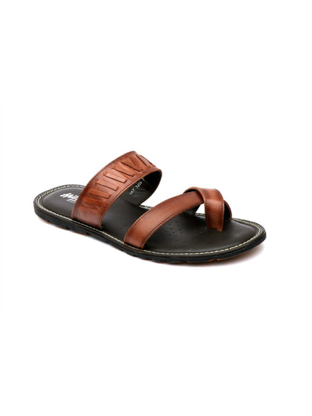 HAVEIT - 3406 TAN LEATHER SLIPPERS