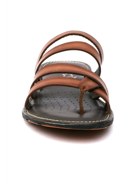 HAVEIT - 3408 BROWN LEATHER SLIPPERS