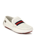 DRIVING - 371 WHITE LEATHER SHOES