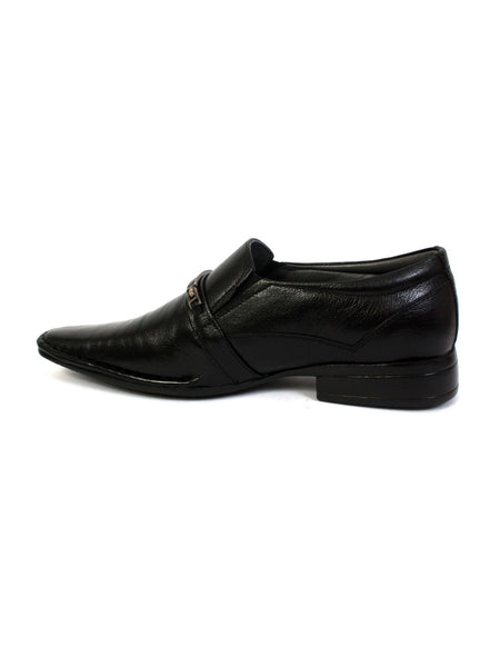 STEPHIN - 4002 BLACK LEATHER SHOES