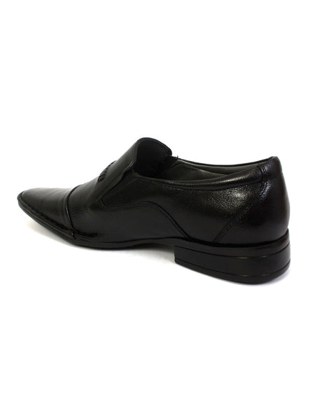 STEPHIN - 4004 BLACK LEATHER SHOES