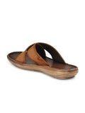 CARRY - 401 TAN LEATHER SLIPPERS