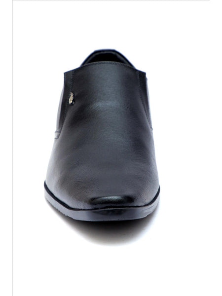 WESLEY - 4564 BLACK LEATHER SHOES