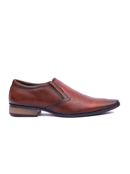 WESLEY - 4564 TOTONE LEATHER SHOES
