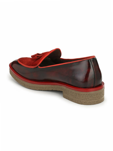 HANDCRAFT - 4857 RED LEATHER SHOES