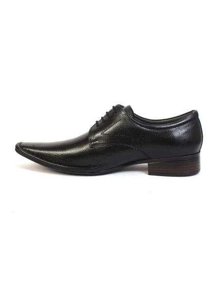 ICE - 5609 BLACK LEATHER SHOES