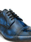 DAINA - 5711 A BLUE LEATHER SHOES