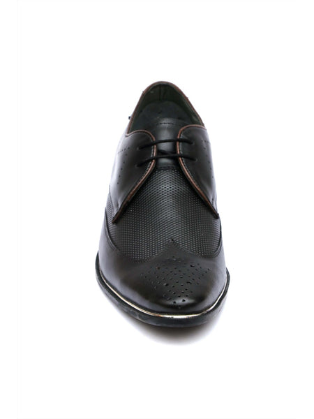 TULIP - 5901 BLACK LEATHER SHOES