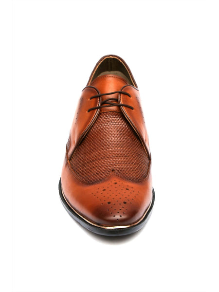 TULIP - 5901 TAN MATE LEATHER SHOES