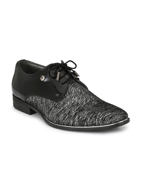 TULIP - 5902 GREY+BLACK LEATHER SHOES