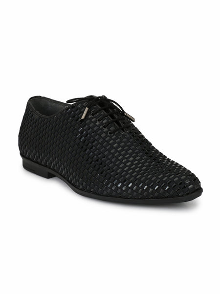POINTY - 6003 BLACK LEATHER SHOES