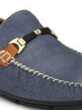 LOAFER - 6101 BLUE+TAN LEATHER SHOES