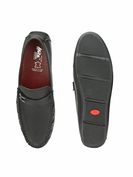 LOAFER - 6102 BLACK LEATHER SHOES