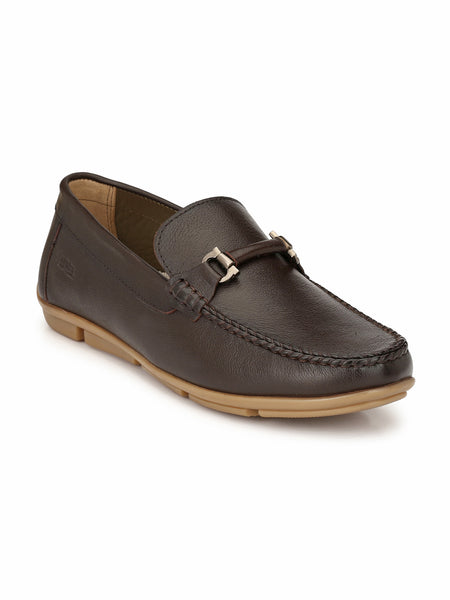 LOAFER - 6112 BROWN LEATHER SHOES