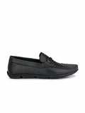 LOAFER - 6123 BLACK LEATHER LOAFER