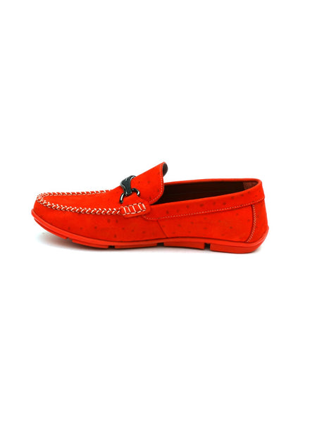 LOAFER - 6129 RED LEATHER SHOES
