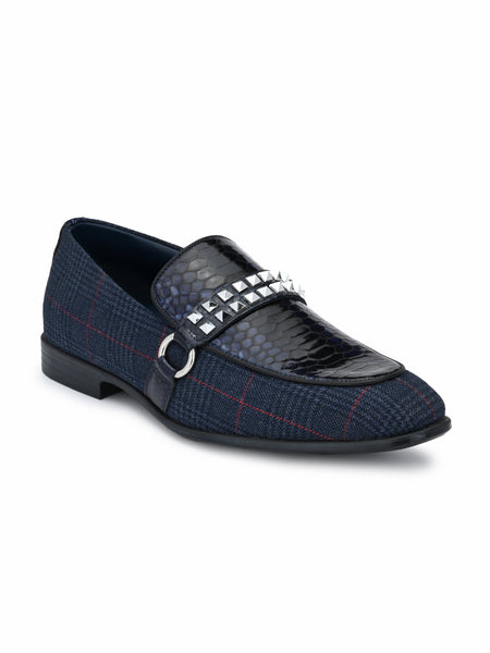 6309 BLUE LEATHER SHOES