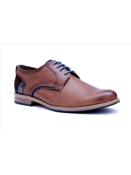 TORRESI - 6509 TAN+BROWN LEATHER SHOES