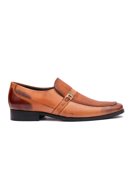 COBLER - 6651 TAN LEATHER SHOES
