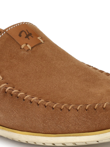 JIVE - 711 TAN+BROWN LEATHER SHOES