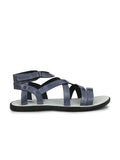 7604 BLUE LEATHER SANDALS
