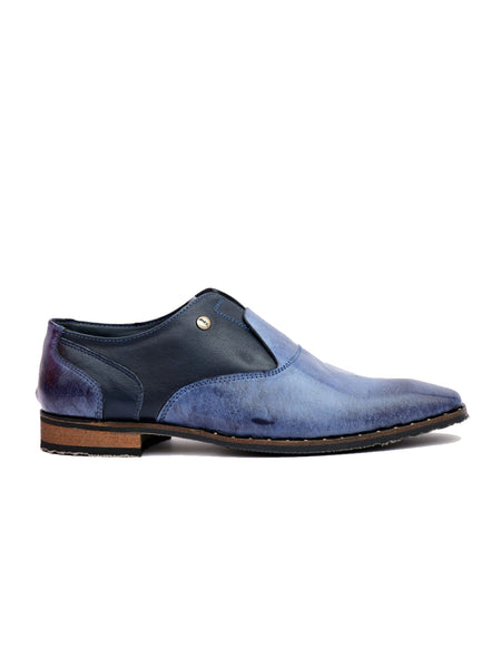 START - 7711 BLUE LEATHER SHOES